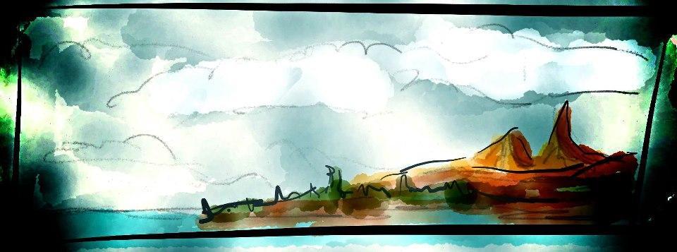 Szkic Ragnara T?rnquista przedstawiający wyspę Ga'an