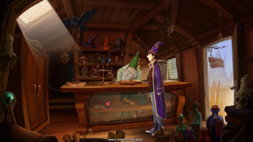 Pierwszy screen z przygodówki Simon the Sorcerer: Between Worlds